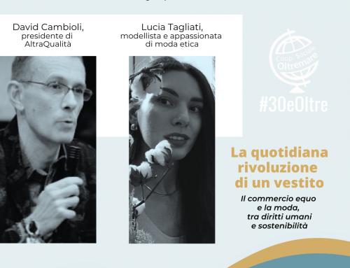 #30eOltre Live: moda etica e commercio equo